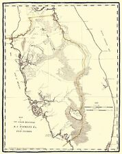 EAST FLORIDA (FL/TAMPA BAY) LANDOWNER MAP 1823