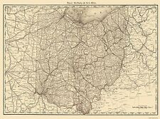 Old State Maps - STATE OF OHIO (OH) MAP BY RAND MCNALLY & CO. 1879