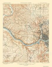 Topographical Map - Cincinnati, West Ohio, Kentucky Quad 1900 - 23 x 29.5