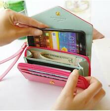 Lady Women Multi propose envelope wallet case Purse for Galaxy S2,S3,iphone 4,4S