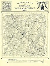 Old County Maps - DALLAS COUNTY TEXAS TX LANDOWNER MAP BY MURPHY & BOLANZ 1886