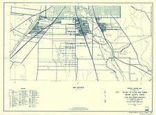 Old County Map - Bexar Texas Highway - Highway Dept 1936 - 23 x 30.96