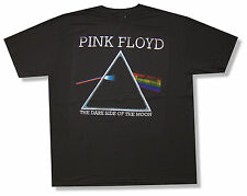 """PINK FLOYD """"TRIANGLE"""" DISTRESSED GREY T-SHIRT DARK SIDE OF THE MOON NEW OFFICIAL"""