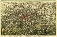 ATLANTA GEORGIA (GA) PANORAMIC MAP BY HUGHES LITHO CO 1892
