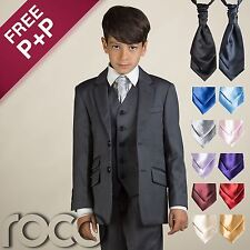Boys Navy suit, Boys page boy outfit, Boys 4 PC Suit & Cravat, Boys Wedding Suit