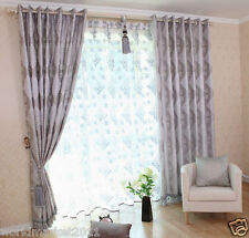 %H Customized Yarn-Dyed 70% Blockout Index Printing Gray Home Decoration Curtain