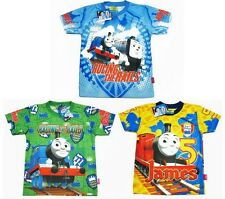 Thomas the Tank Engine & Friends Boy Kid Polyester T-Shirt Size XS-M age 1-4