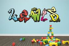 Wall Sticker Vinyl Art Personalised Graffiti Name Decal Graphic TR26