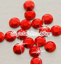 Red Iron On Faceted Hot Fix Rhinestud Aluminium Craft studs DIY 2mm 3mm 4mm 5mm