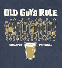 OLD GUYS RULE UNTAPPED POTENTIAL NAVY BLUE TEE SHIRT