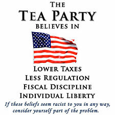 Anti Obama  TEA PARTY BELIEVES  Conservative Political T Shirt