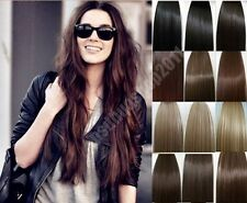 """15""""-28"""" Full&Half Head Remy Clip in Human Hair Extensions Straight Hair 19 Color"""