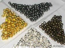 200 Smooth Round Crimp Beads Findings 2mm  Choose your colour