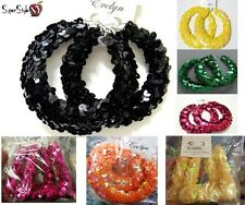 Basketball Wives Black Chunky Sequin Paparazzi Fashion Hoop Earrings Sexy Circle