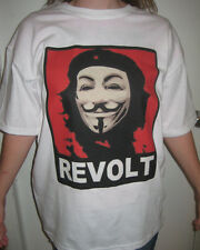 ANON Che Guevara Red REVOLT T-shirt Anonymous Occupy Wall Street