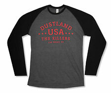 "THE KILLERS ""DUSTLAND"" GREY/BLACK LONG SLEEVE RAGLAN T-SHIRT NEW OFFICIAL ADULT"