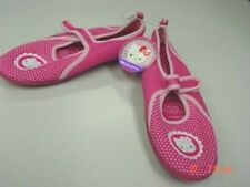NWT Girls Hello Kitty Themed Water Shoes Swim Pink Summer Girly Trendy Cute