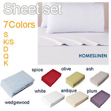 Single KS Double Queen King Soft Microfiber Bed Sheet Set Flat Fitted Pillowcase