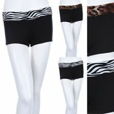 GIRLS Animal Print Foldover Waist Band Cotton Mini Shorts SHORT LEGGINGS