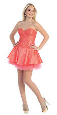 13 COLOR MINI COCKTAIL BRIDESMAIDS HOMECOMING SHORT  FORMAL DRESS BALL GOWN 4-16