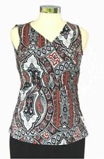New Japanese Weekend Maternity Nursing Cross Front Paisley Sleeveless Luxe Top