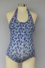 New One Piece JAPANESE WEEKEND MATERNITY Halter Tank Top V-Neck SWIMSUIT $72 1Pc