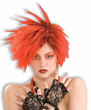 80's Red Punk Wig Spiked Rock Star Dress Up Halloween Adult Costume Accessory
