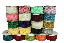 4MM Faux Pearl Plastic BEADS on a String Craft ROLL 24 yds CHOOSE COLOR