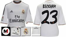 *13 / 14 - ADIDAS ; REAL MADRID HOME SHIRT SS / BECKHAM 23 = SIZE*