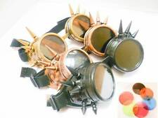 Welding Cyber Goggles Steampunk Cosplay Goth Antique Victorian With Spikes UK