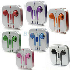 Stereo EarPods Earphone Headset Volume Remote+Mic For Apple iPhone 5 5G 8 Colors