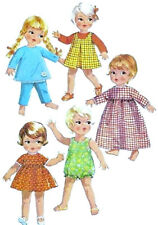 """Vintage Doll Clothes Pattern 7400 ~ size 9"""" or 11"""" ~ Easy Romper - Pants & Top"""