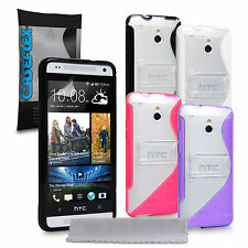 Caseflex Accessories For The HTC One Mini Silicone Gel Stand Case Cover & Film