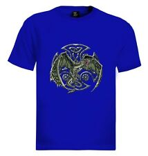 Green Dragon T-Shirt Gothic Celtic Reptile Medieval Folklore Mythical Creature