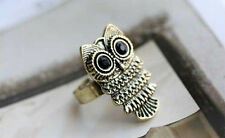 Girls Women Jewellery Vintage Art Deco Retro Antique Bronze cute Owl Body Ring