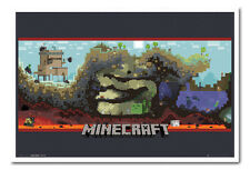 Minecraft Underground Framed Cork Memo Notice Board With Pins