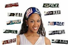 NFL FANBANDS OFFICIALLY LICENSED JERSEY FABRIC ELASTIC HEAD BANDS WITH TEAM LOGO