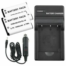 EN-EL19 Battery & Car Wall AC Charger For Nikon Coolpix S2500 S3100 S4100 $4300