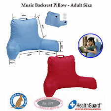 MADE IN AUSTRALIA - Back Rest Pillow / Cushion with Arms - BLUE RED STONE