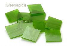 Moss Green Wispy Mosaic Glass Tile * Cut to Order Shapes * Pack