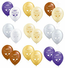 10 x  JUST MARRIED WEDDING BALLOONS HELIUM QUALITY CHOOSE COLOUR