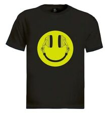 Headphone Smiley T-Shirt Acid House Cans MUSIC RAVE WEED DOPE CLUB DJ MOLLY Mac