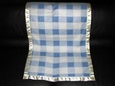 Baby Boy Blue Checked Personalized Fleece Toddler Blanket