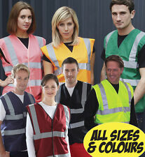 Plain Hi Vis Safety Vest Fire First Aid Event Party Security Workwear Reflective