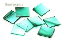 Teal Green on Clear Baroque Mosaic Glass Tile Cut to Order Shapes Large Package