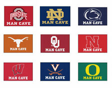 Choose NCAA N-Z Team 5 x 6' Man Cave Tailgater Indoor Outdoor Area Rug Floor Mat