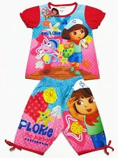 Dora the Explorer Girl Outfit Set Top + Pants Size 4-8 age 3-8