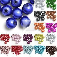40pcs Round Acrylic Miracle 8mm Spacer Beads Jewelry Making Findings Wholesale