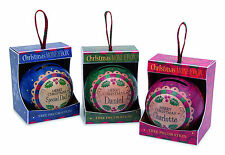 H&H Personalised Christmas Money Box Tree Decorations Names L-M