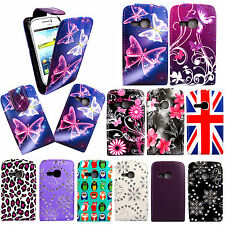 Printed Leather Magnetic Flip Case Cover For Samsung Galaxy Young S6310 + Guard